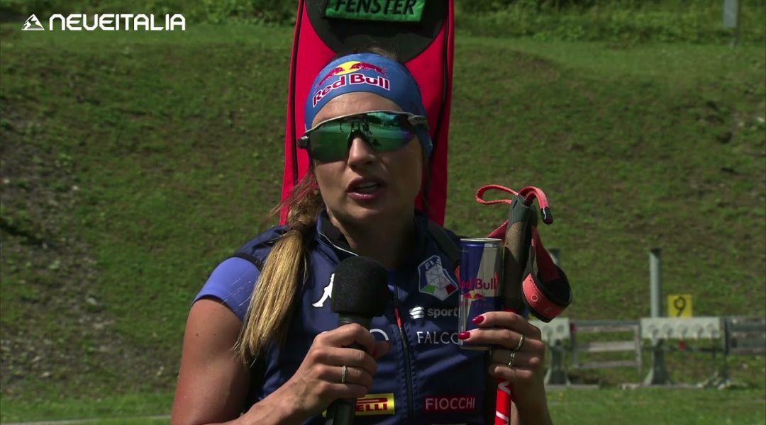 Dorothea Wierer - biathlon - Intervista alla Carnia Arena di Forni Avoltri