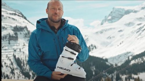 Aksel lund svindal ci introduce il liquid fit dello scarpone head raptor
