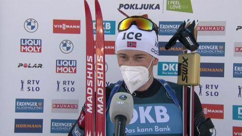 Johannes Boe ruggisce nella mass start di Anterselva, gli highlights
