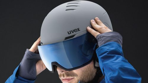 Uvex, due nuovi caschi con visore per l'inverno 2021/2022