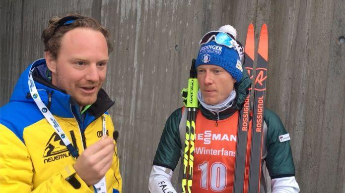 Intervista a Lucas Hofer a Holmenkollen in occasione delle finali di Coppa del mondo di Biathlon