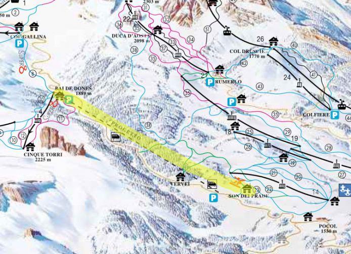 Collegamento sci ai piedi tra le Skiaree 'Pocol-Tofana' e '5 Torri' approvato