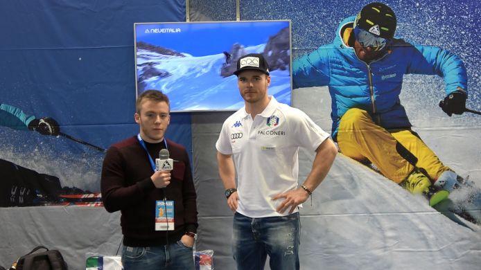 Giuliano Razzoli alla vigilia dello Slalom di Levi ai microfono di Neveitalia