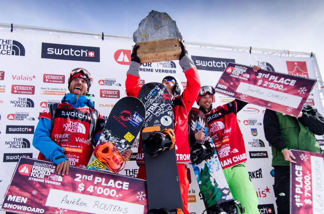 I vincitori della finale dello scorso anno a Verbier
