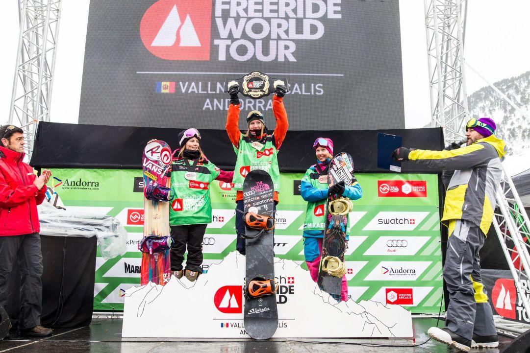 Il podio dello snowboard femminle