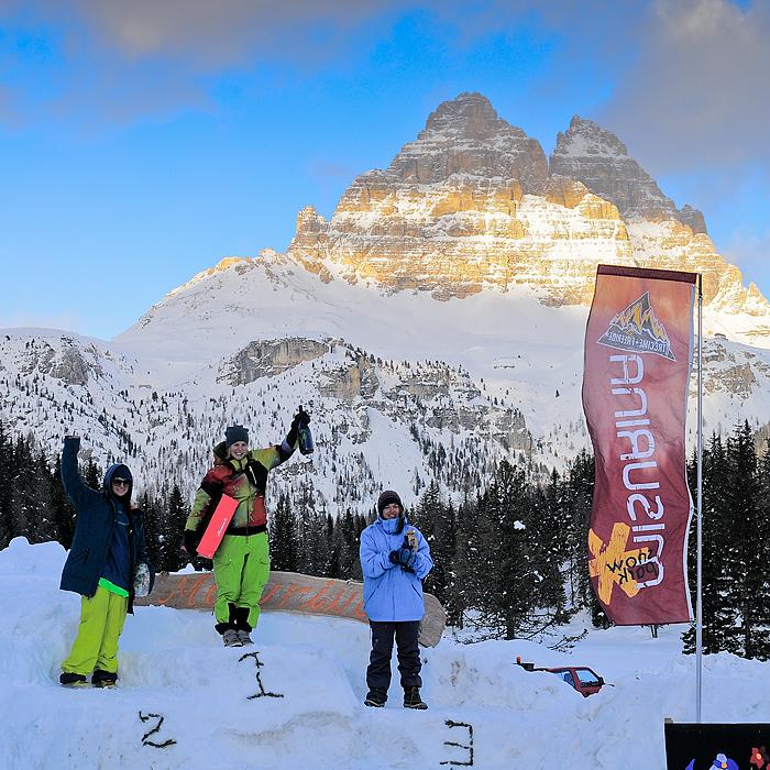 """Dolomiti. Il """"Tre Cime Freeride"""" di Misurina sfida il maltempo"""