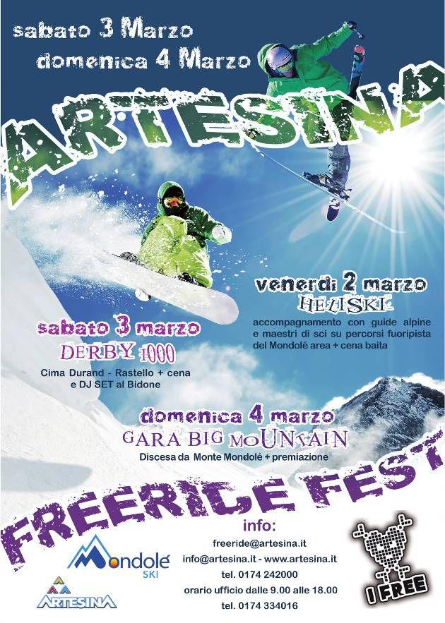 Artesina Freeride Fest, flyer dell'evento