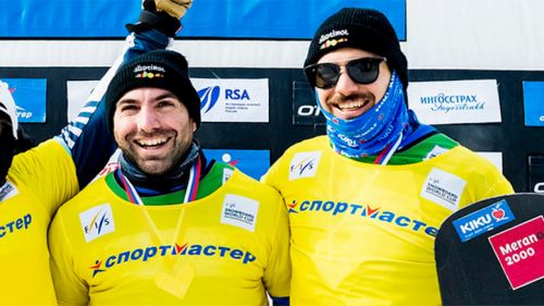 Emanuel Perathoner e Omar Visintin vincono lo snowboard cross a coppie di Mosca