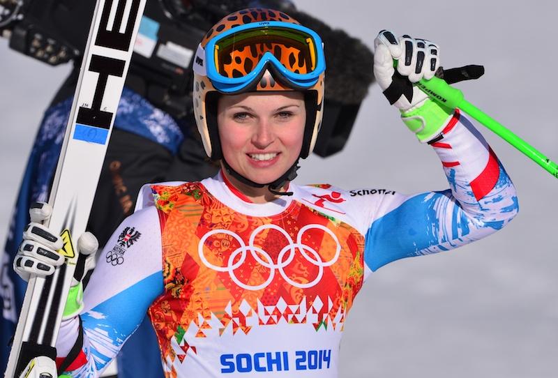 Il titolo olimpico del superG femminile resta all'Austria: oro ad Anna Fenninger