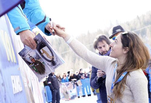 Al Passo San Pellegrino Sofia Goggia prova il rientro agonistico a Garmisch-Partenkirchen
