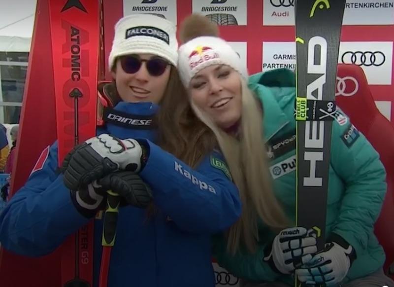Ancora tu! Lindsey Vonn batte Sofia Goggia anche nella seconda discesa di Garmisch-Partenkirchen