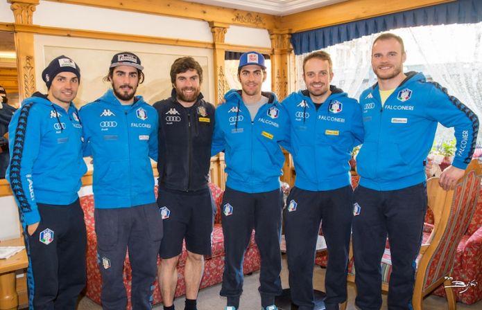 Gli azzurri e gli svedesi si allenano sul Canalone Miramonti di Madonna di Campiglio per due giorni