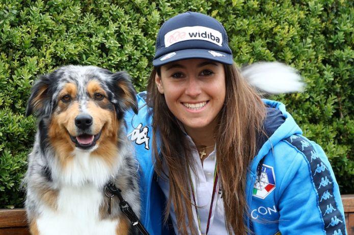 A Bardonecchia discesa femminile dei campionati italiani in due manche, Sofia Goggia in testa a metà gara