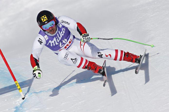 Marcel Hirscher in testa alla prima manche del gigante di Åre