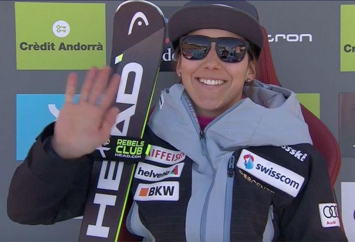 Wendy Holdener in testa alla prima manche dello slalom di Soldeu