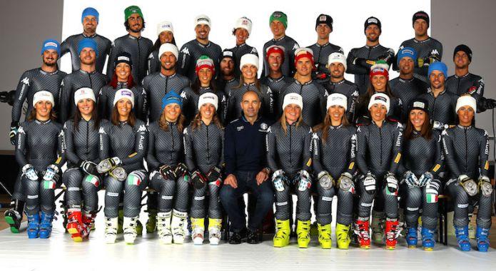 Raduno atletico a Formia per l'Italia di Coppa del Mondo di sci alpino
