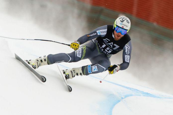 Kjetil Jansrud davanti nell'unica prova di Kvitfjell