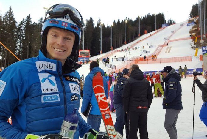 Henrik Kristoffersen comanda davanti a Marcel Hirscher la prima manche dello slalom di Madonna di Campiglio