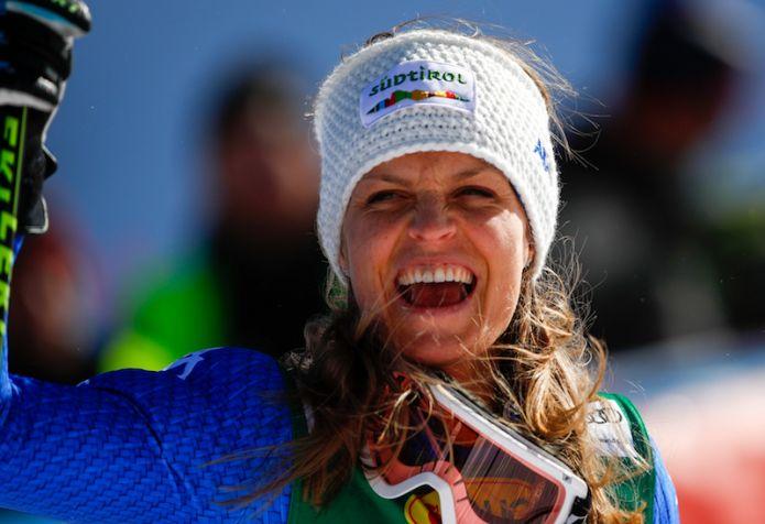 Moelgg: 'Mi godo il podio' Rebensburg: 'Bello essere al top' Bassino e Goggia: 'Il vento ci ha fatto prendere troppa velocità'