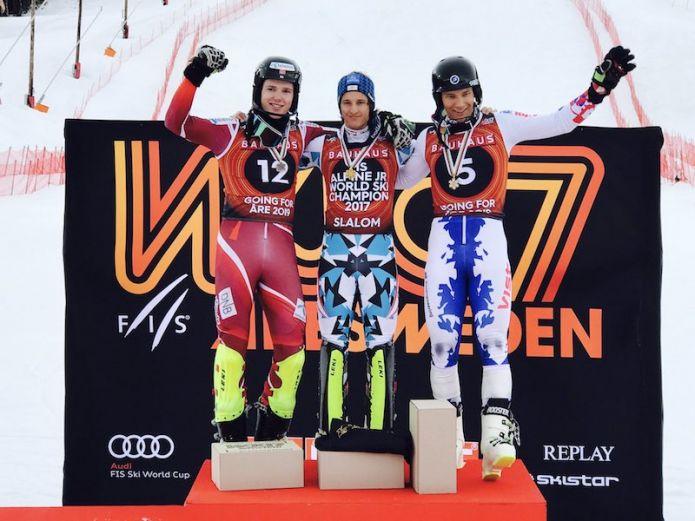 Va all'Austria l'ultimo oro dei Mondiali jr. di Åre, quello dello slalom maschile
