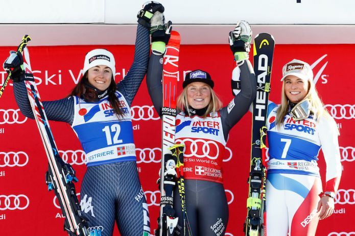 Worley: 'Bello sciare in gara come in allenamento' Gut: 'Non ho sciato bene ma sono terza'