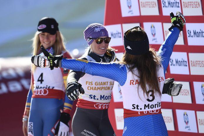 Worley: 'Sapevo che poteva essere il mio giorno' Shiffrin: 'Tessa ha meritato la vittoria'