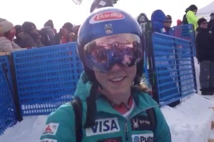VIDEO - Gli auguri di MIkaela Shiffrin ad Angelica Bettoni, giovanissima promessa dello sci italiano