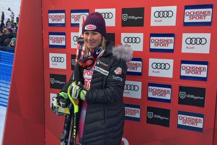 Mikaela Shiffrin inarrivabile nella prima manche dello slalom di Killington
