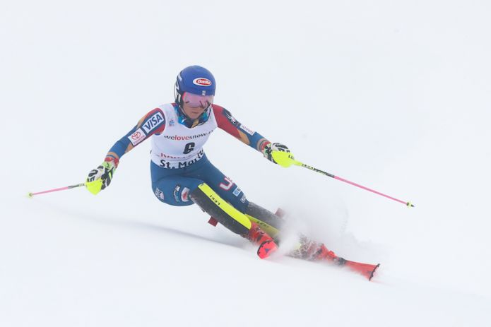 Cdm, Brignone 4/a in SuperG S.Moritz