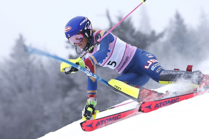 Mikaela Shiffrin implacabile nella prima manche dello slalom di Killington