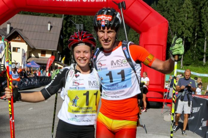 Susi Meinen e Martin Otcenas sono i vincitori del Summer Biathlon Festival a Forni Avoltri