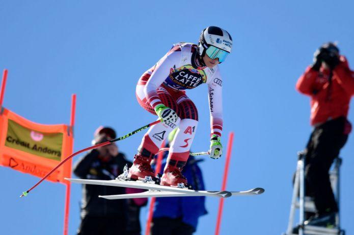 Stephanie Venier la più veloce nell'ultima prova femminile di Soldeu