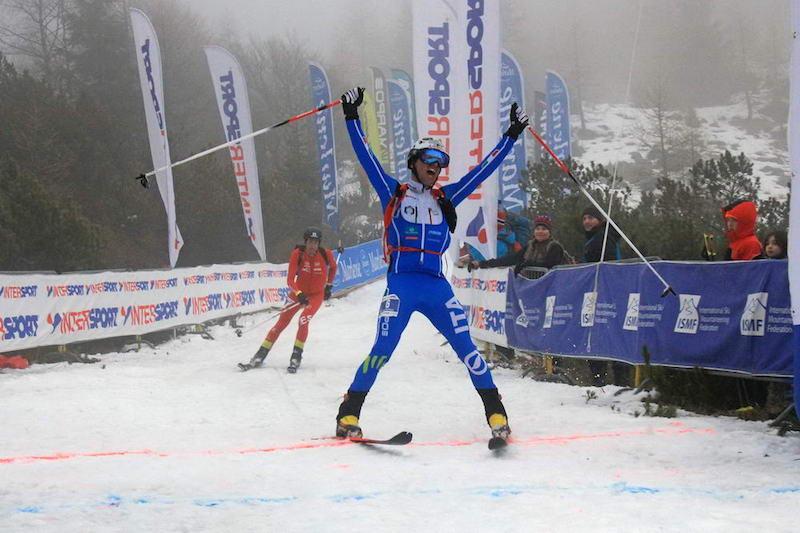 Damiano Lenzi oro nell'individuale dei Mondiali di sci alpinismo di Alpago-Piancavallo