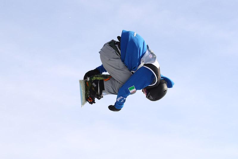 Big air dello snowboard di Milano, Alberto Maffei in finale
