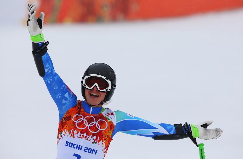 Tina Maze beffa per 7 centesimi Anna Fenninger ed è oro olimpico in gigante, bronzo Viktoria Rebensburg, quarta Nadia Fanchini