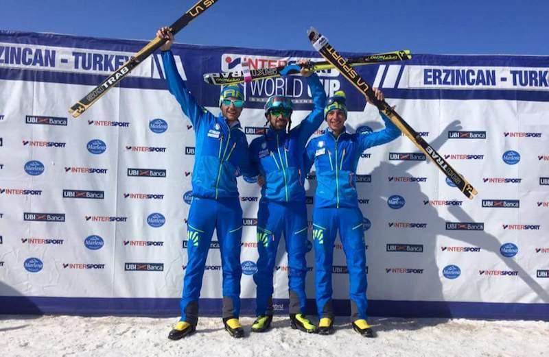 Tripletta azzurra nella sprint maschile di Coppa del Mondo di Erzincan