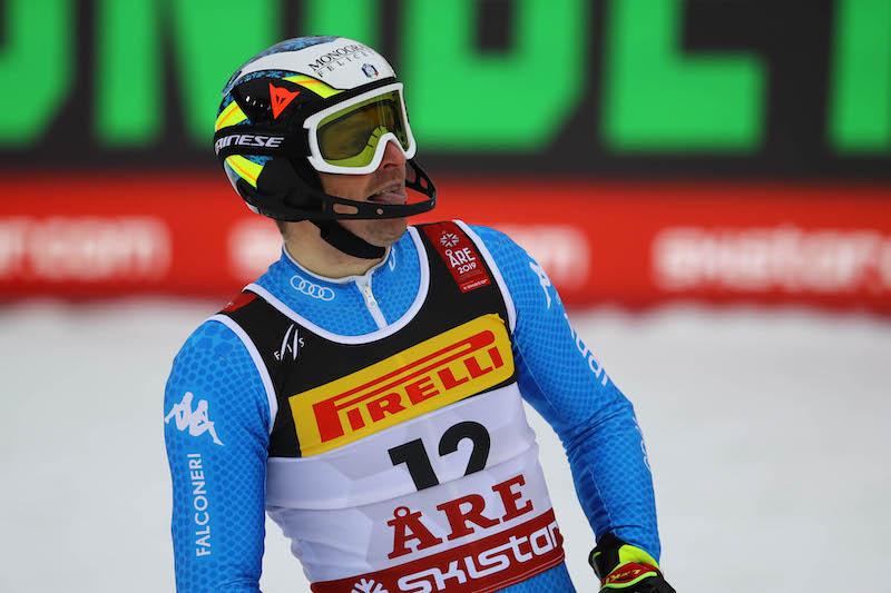 Manfred Moelgg secondo dietro a Henrik Kristoffersen nella prima manche dello slalom di Kranjska Gora