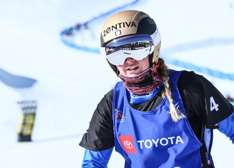 Michela Moioli terza nello snowboard cross di Coppa del Mondo di Veysonnaz