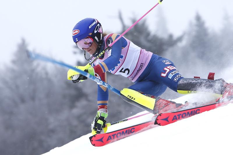 Mikaela Shiffrin implacabile nella prima manche dello slalom di Killington