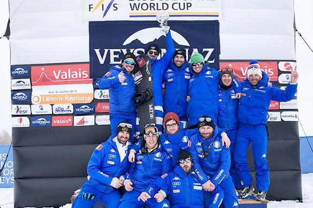 Emanuel Perathoner e Omar Visintin vincono la Coppa del Mondo di snowboard cross a coppie maschile