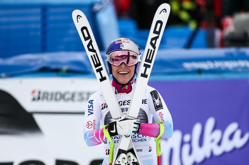 Lindsey Vonn beffa per 2 centesimi Sofia Goggia e trionfa nella prima discesa di Garmisch-Partenkirchen