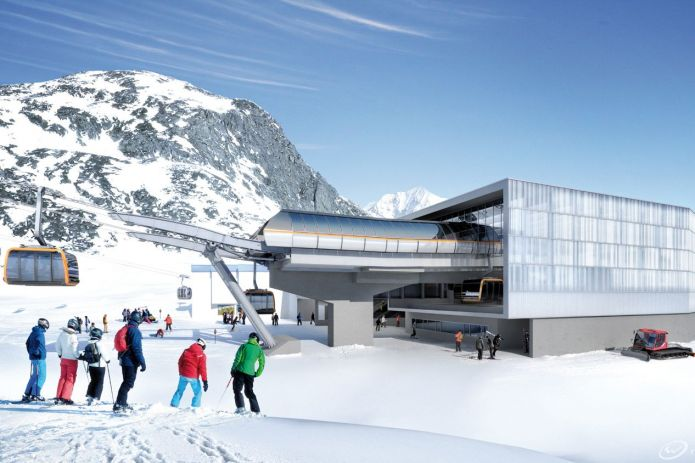 stubai glacier 3s eisgratbahn (stazione intermedia)