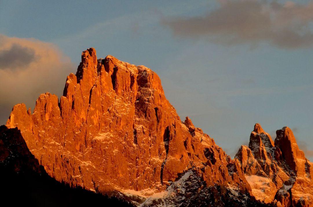 Bellissimo tramonto sulle Pale di S.Martino di Castrozza