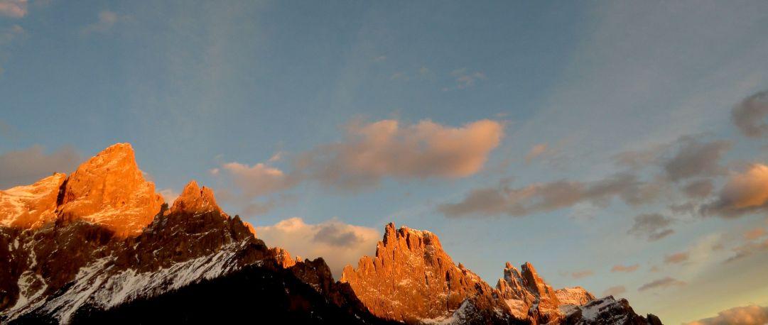 Bellissimo tramonto da cima Tognola