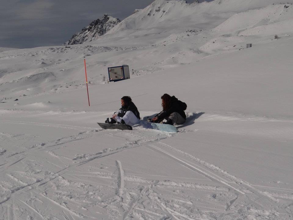Snowbord in pista...