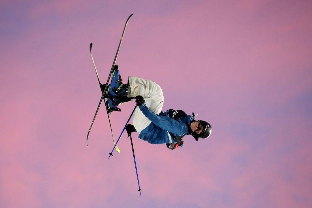 Grande spettacolo a Skipass Modena Fiere dove nel weekend sono andate in scena due gare di Coppa del Mondo di Freestyle specialità Big Air. Terza piazza per lo svizzero Andri Ragettli  Photo by Michele Dardanelli