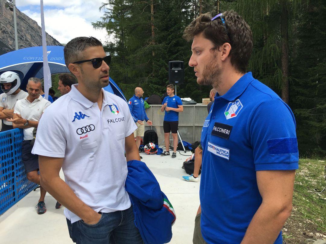 A Cortina erano presenti anche il Direttore Tecnico ed il preparatore atletico della squadra: Maurizio Oioli e Andrea Gallina