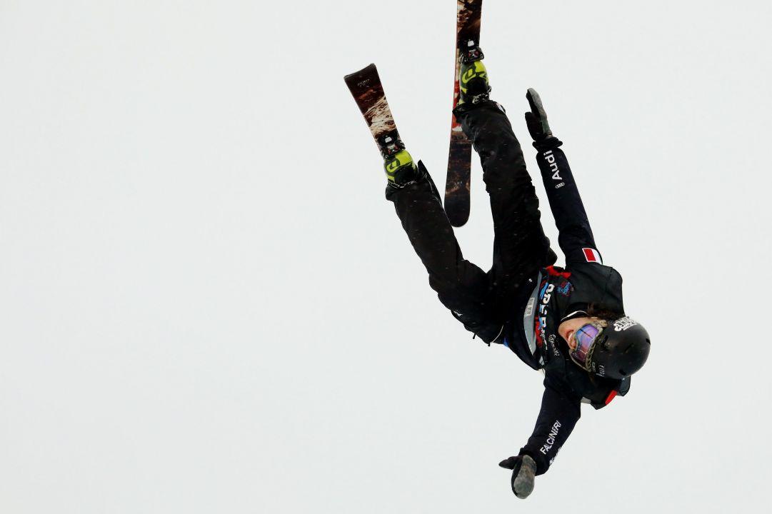 Grande spettacolo a Skipass Modena Fiere dove nel weekend sono andate in scena due gare di Coppa del Mondo di Freestyle specialità Big Air.   Photo by Michele Dardanelli