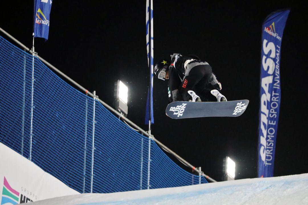 Lo scorso weekend a Skipass Modena Fiere è andata in scena una gara di Snowboard Big Air che ha visto al via tutto i migliori atleti del mondo. A dominare la gara femminile è stata la giapponese Reira Iwabuchi   Photo by: Michele Dardanelli