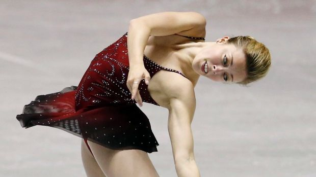 Ashley Wagner of The United States performs during the Ladies short program of the ISU World Team Trophy in Figure Skating in Tokyo, Thursday, April 11, 2013. (AP Photo/Koji Sasahara)